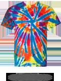 200TD Tie-Dyed Rainbow Cut-Spiral Tee
