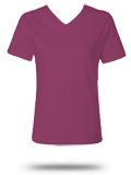 Custom Printed Women's T-Shirts : 3587 LAT Ladies' V-Neck