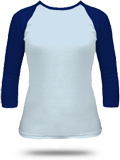 Custom Girly American Apparel Long Sleeve T-Shirts : 4353 Raglan