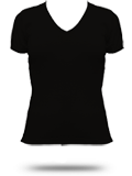 4356 American Apparel Girly V-Neck Tee