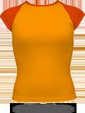 4377 AA Girly Baby Rib Cap Sleeve Raglan