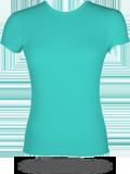 Bella B1001 1x1 Baby Rib Crew Neck T-Shirt