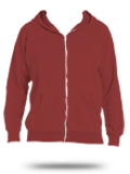 Custom Hooded Sweatshirts : CC1563 Comfort Colors Zip Up Hoodie