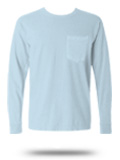 Custom Long Sleeve T-shirt: CC4410 Comfort Colors Long Sleeve Pocket T-shirt