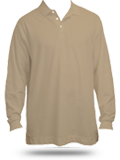 D110 Pima Pique Long Sleeve Polo Shirt