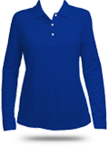 D110W Ladies' Pima Pique Long Sleeve Polo Shirt