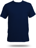 Custom Printed Pocket T-Shirts : Jerzees 29MP 50/50