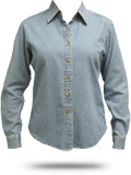 LSP10 Port & Company Ladies Long Sleeve Value Denim