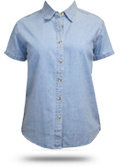 LSP11 Port & Company Ladies Short Sleeve Value Denim