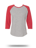 Custom Athletic Jerseys : 3530 LAT Women's Baseball Fine Jersey Tee