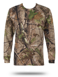 Custom Short Sleeve T-Shirts : 3981 Code V Realtree Camouflage Long Sleeve T-Shi