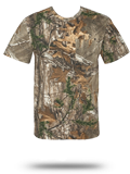 Custom Short Sleeve T-Shirts : 3982 Code V Realtree Camouflage Short Sleeve T-Sh