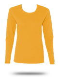 Custom Women's Long Sleeve T-Shirt : G5400L Gildan Heavy Cotton Missy Fit Long S