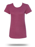 Custom Women's Short Sleeve T-Shirts : Anvil 6750L Women's Triblend Scoopneck T-