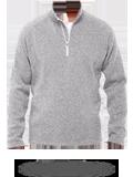 Custom Sweatshirts : DG792 Devon & Jones Men's Bristol Sweater Fleece Half-Zip