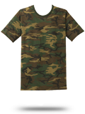 Custom Short Sleeve T-Shirts : DT104C District Made� Mens Perfect Weight Camo Cr