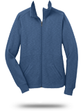 Custom Fleece Jackets : L293 Port Authority Ladies Slub Fleece Full-Zip Jacket