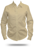 Custom Button-Down Shirts : L607 Port Authority Ladies Long Sleeve Easy Care, So