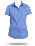 Custom Short Sleeve Button Down Business Apparel : L664 Port Authority Ladies Sh