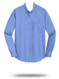 Custom Long Sleeve Button Down Business Apparel : S633 Port Authority SuperPro T