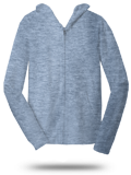 Custom Sweats : DT1100 District Young Mens Jersey Full-Zip Hoodie