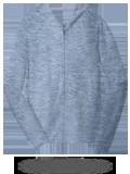 Custom Sweats : DT1100 District Young Mens Jersey Full-Zip Hoodie