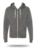 Custom Hoodie Sweatshirt : 8872 J. America Tri-Blend Hooded Full-Zip Sweatshirt