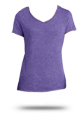 Custom Women's T-Shirts : DM1350L District Made Ladies Tri-Blend V-Neck Tee
