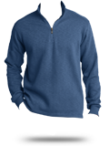 Custom Sweatshirts : F295 Port Authority Slub Fleece 1/4-Zip Pullover