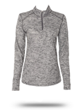 Custom Performance Fabrics : 4173 Badger Tonal Blend Ladies 1/4 Zip