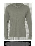 Custom Long Sleeve T-Shirts : NL6021 Next Level Unisex Triblend Hooded Tee