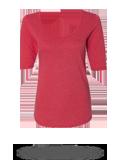 Custom Women's T-Shirts : Anvil 6756L Women's Triblend Deep Scoopneck Three-Quar