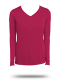 Custom Long Sleeve Tees: LST353LS Sport-Tek Ladies Long Sleeve V-Neck PosiCharge