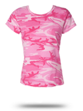 Custom Women's T-Shirts: 3665 Code V Ladies' Camouflage T-Shirt