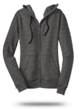 Custom Juniors : DT292 District Juniors Marled Fleece Full-Zip Hoodie