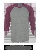 Custom Athletic Jerseys : 3200 Canvas Unisex Three-Quarter Sleeve Baseball T-Shi