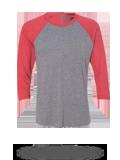 Custom Athletic Jerseys : 6051 Next Level Unisex Tri-Blend Three-Quarter Sleeve