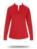 1486 Badger 1/4 Zip Poly Fleece Ladies Pullover