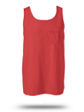 Custom Sleeveless : 9330 Comfort Colors Adult Pocket Tank Top