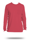 Custom Long Sleeve Pocket T-Shirts : PC099LSP Port & Company Pigment Dyed Long S