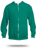 Custom Zip Up Hoodies : F497 American Apparel Flex Fleece