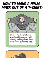 Make a Ninja Mask T-Shirt